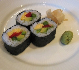 Where can I find proper sushi for vegetarians?