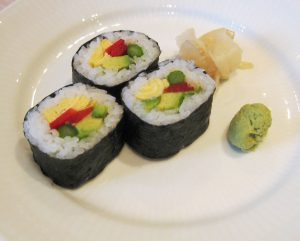 What is the biggest advantage by eating vegetarian sushi?