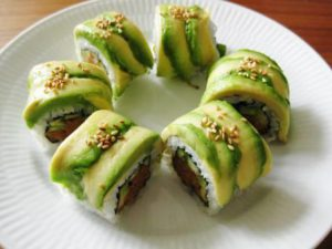 Spicy tuna roll with a twist