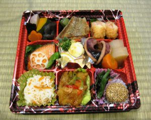 This is how a traditional Japanese bento box looks like