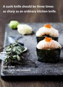 How sharp should a sushi knife be?